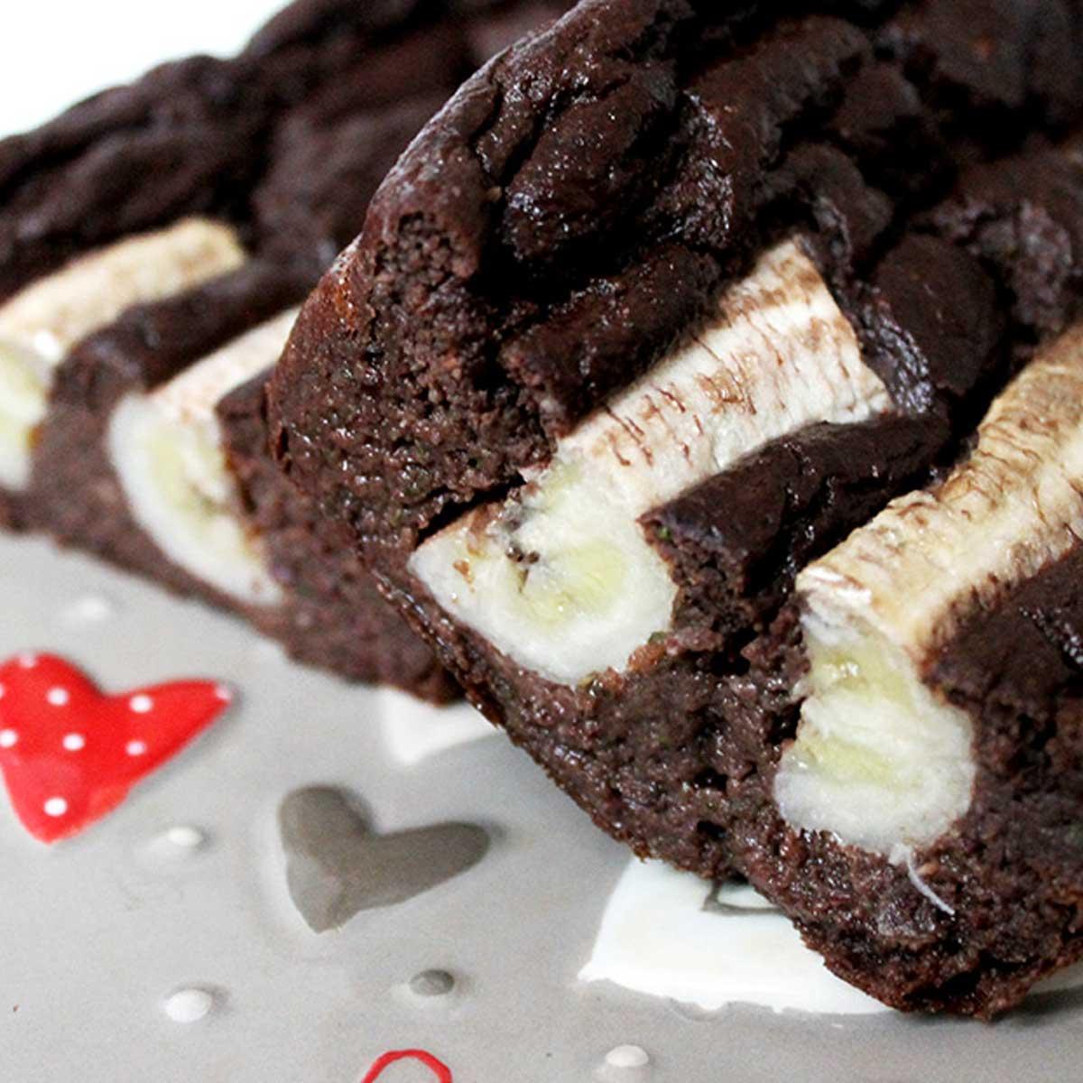 Brownie z bananem